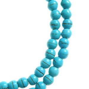 Colier bleu din pietre naturale