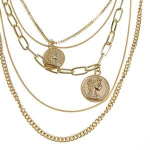 Colier auriu cu pandantive monede