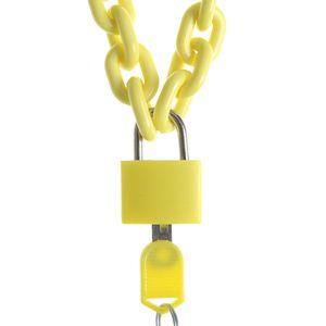 Colier galben cu lacat si cheie