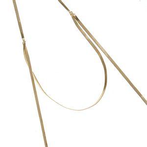 Colier auriu cu design modern