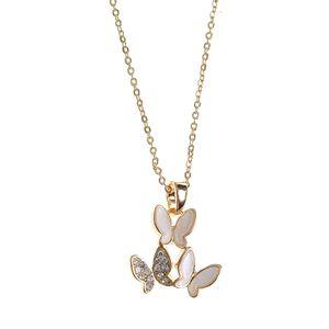 Colier auriu cu fluturi
