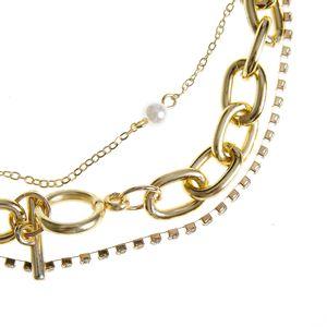 Set 3 coliere aurii cu modele diferite