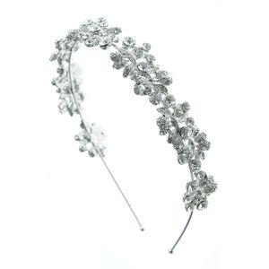 Bentita argintie cu flori