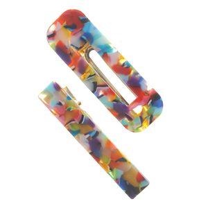 Set 2 agrafe viu colorate
