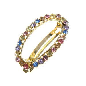 Agrafa ovala cu pietre multicolore