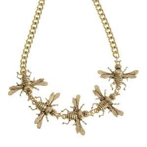 Colier auriu cu cinci albine