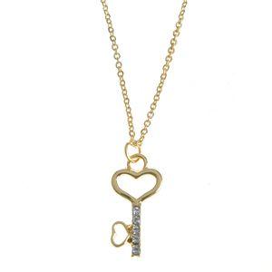 Colier auriu cu pandantiv cheie