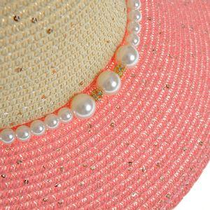 Palarie cu paiete si perle albe