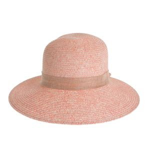 Palarie roz cu funda la spate