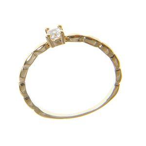 Inel placat cu aur stil logodna