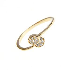 Inel placat cu aur cu model suprapus