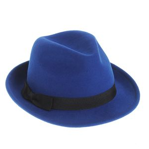 Palarie albastra din lana